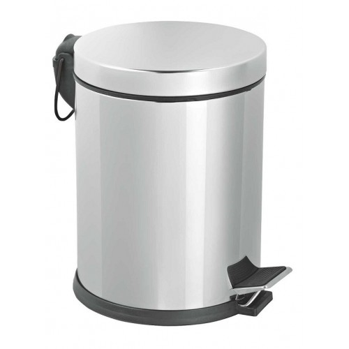 Dustbin inox pedal 5 liters