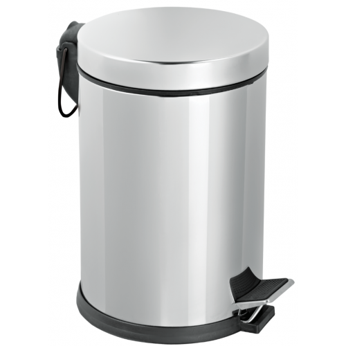 Dustbin inox pedal 8 liters