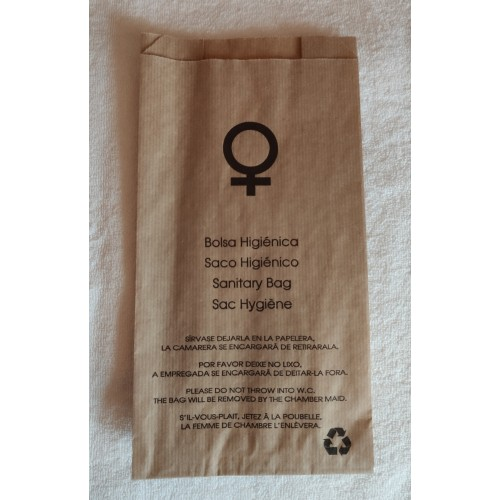 sanitary hygene bag of kraft paper