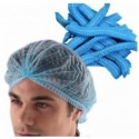 disposable surgical nursing cap- blue