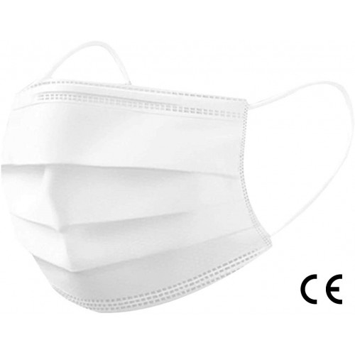 disposable surgical masks SMS (white) Box of 2.400 masks