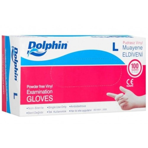Disposable Vinyl Gloves Size L Powder Free Color White