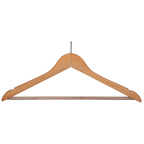 Wooden hanger anti-theft- pack 10 pieces