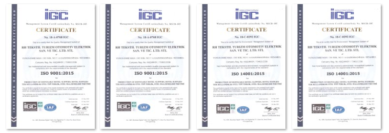 RH Quality Environmental ISO Certificates